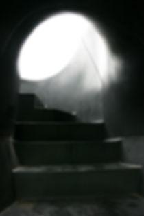 ブラックスライドマントラのすべり台への登り口