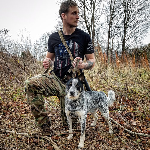 Dog Leash With Camo Webbing