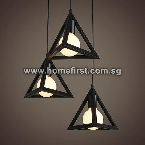 Modern Iron Triangle Pendant Light