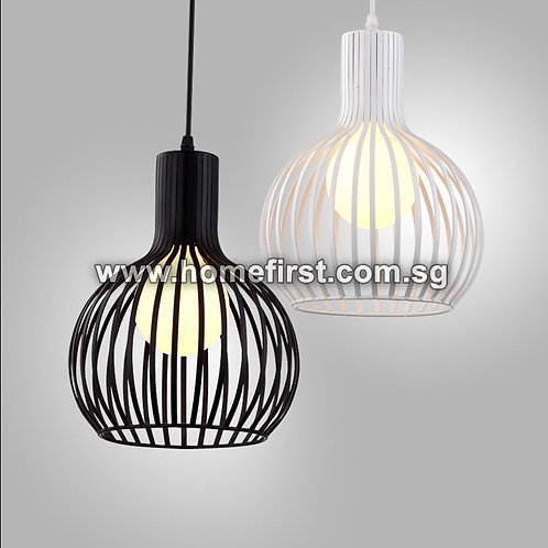 Iron Oblong Pendant Light (Black/White) ~ PL-FL007