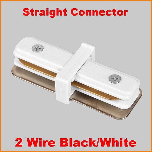 Track Light: Connector Black / White