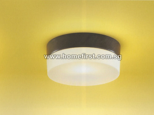 2-tone Round Ceiling Light (180mm) - Dark Brown