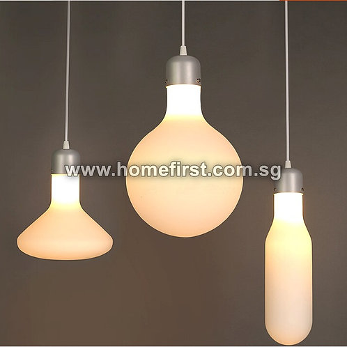 Milky White Line Glass Pendant Light