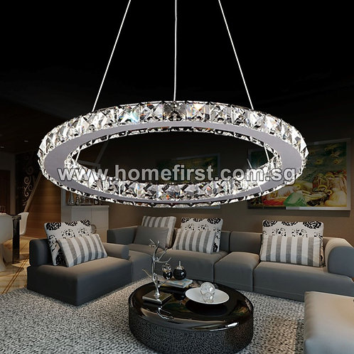 1-ring Crystal Chandelier LED Light