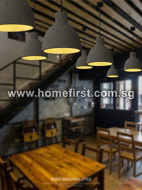 Small Cement Pendant Light ~ PL-SN013