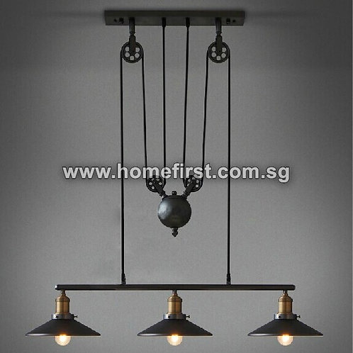 European Style 3 Heads Pulley Light
