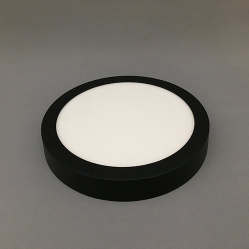 TRI-COLOR Surface Mount Round-Black: 12W-36W