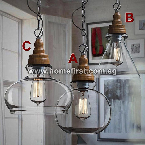 Neoteric Clear Glass Pendant Light