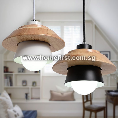 Miniature UFO Shape Pendant Light (Black/White) ~ PL-FL406