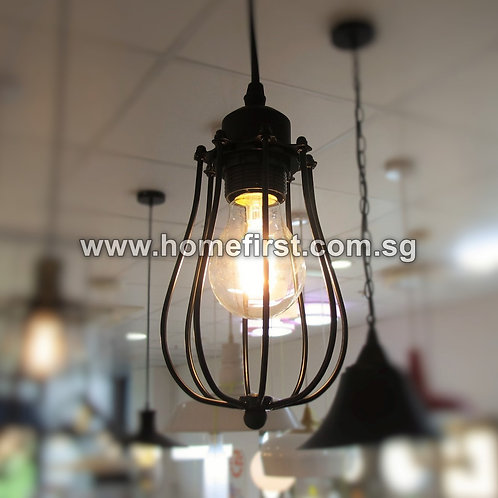 Industrial Long Cage Pendant Light ~ PL-ID031