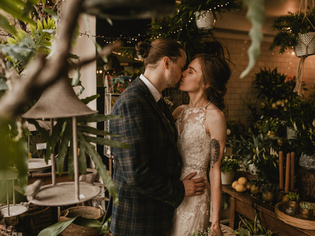 Susannah & James | Quirky city venue with a boho vibe