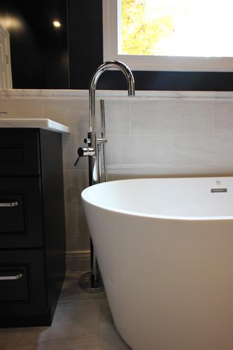 Moody, Modern, Master Bath