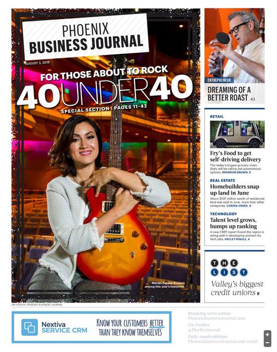 2018 Phoenix Business Journal 40 under 40 - August 3, 2018