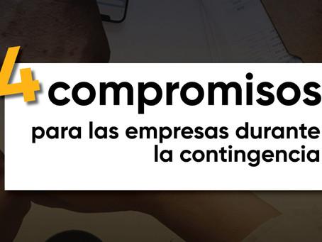 4 compromisos para las empresas durante la contingencia