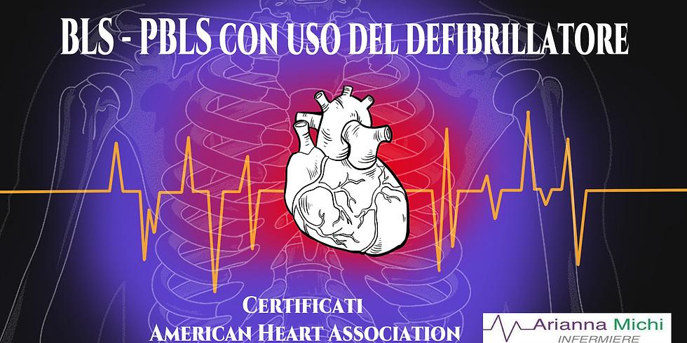 BLS Provider American Heart Association con abilitazione all'uso del defibrillatore 14 Dicembre
