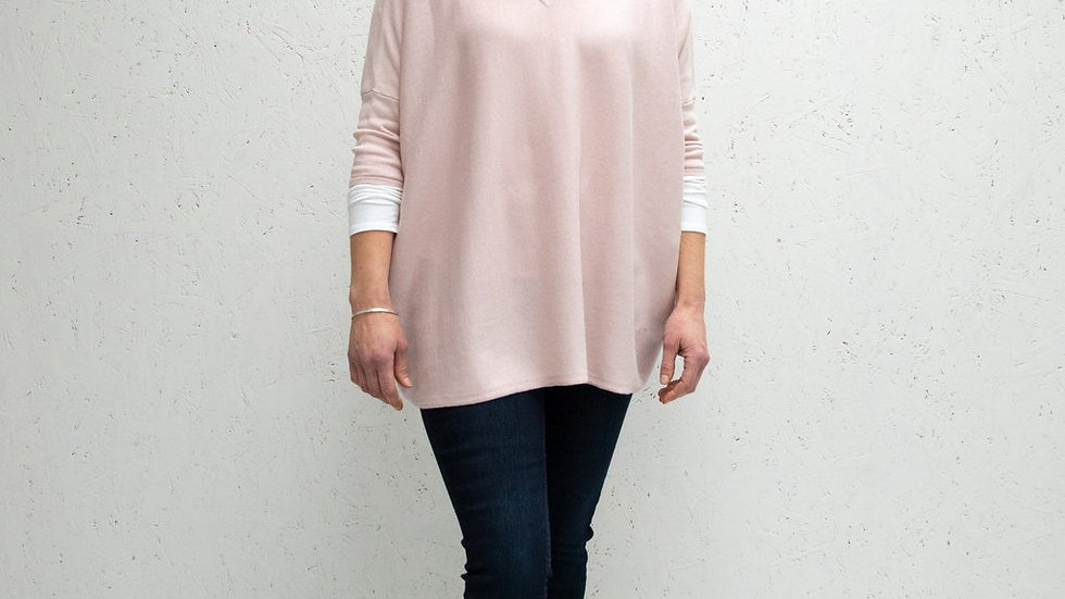 Clara V-Neck Jumper | Light Pink