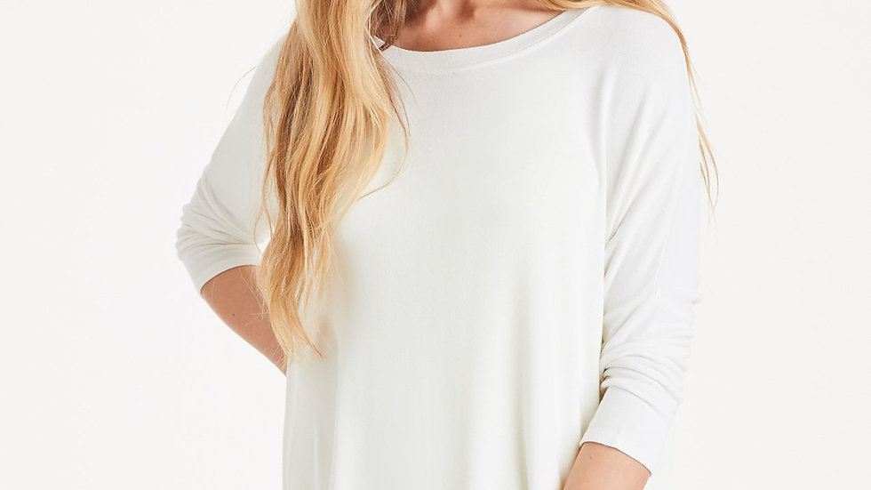 Long Line dipped back Knit top (Size 1)