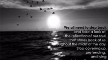 What Does the Reflection of Your Soul Say?