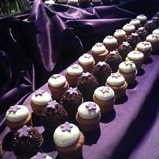 Purple cupcakes Fairytale Europe Weddings
