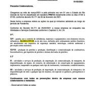 COMUNICADO DA DIREÇÃO- COVID-19