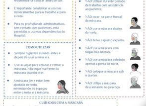 Orientações sobre uso de máscaras caseiras