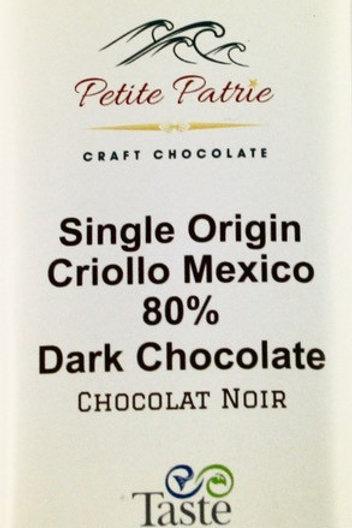Single Origin Tabasco Region, Criollo 80% Dark Chocolate
