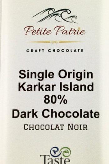 Single Origin Karkar Island, Papua New Guinea 80% Dark Chocolate