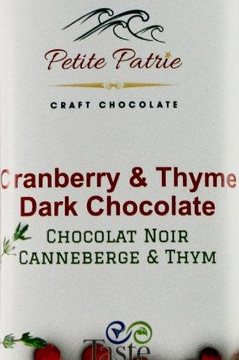Cranberry & Thyme Dark Chocolate