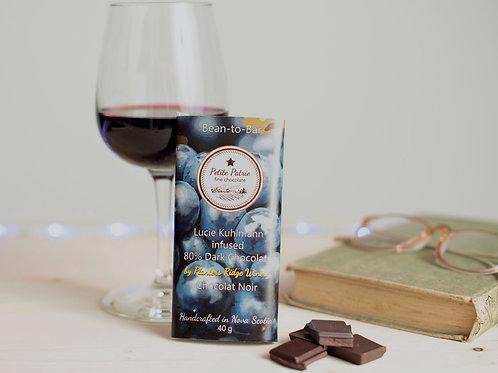 Wine Chocolate Lucie Kuhlmann 80% Dark Chocolate