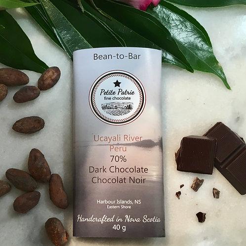 Single Origin Ucayali River Peru 70% Dark Chocolate