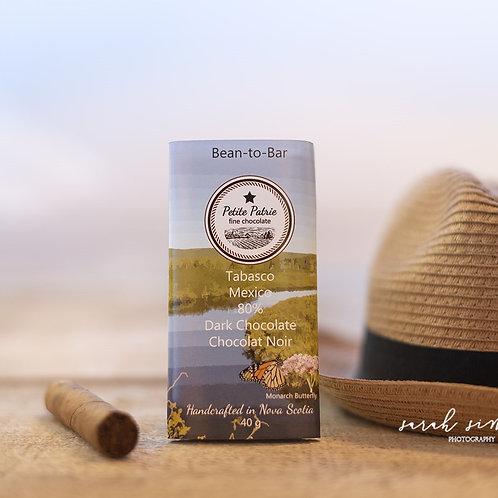 Single Origin Tabasco Region, Mexico 80% Dark Chocolate