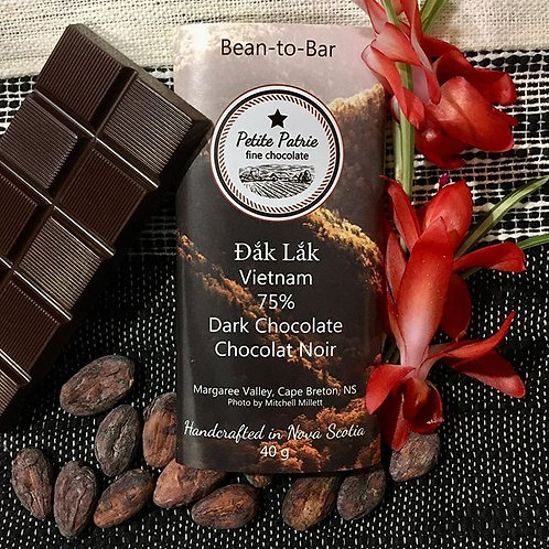 Single Origin Đắk Lắk, Vietnam 75% Dark Chocolate
