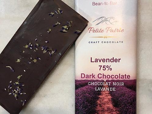 Lavender Dark Chocolate Đắk Lắk, Vietnam 75% Dark Chocolate