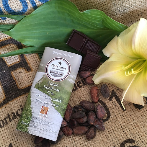 Single Origin Copan Honduras. 72% Dark Chocolate