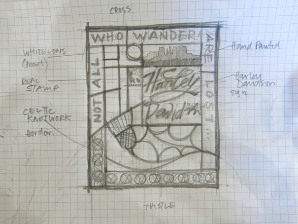NOT ALL WHO WANDER - drawing