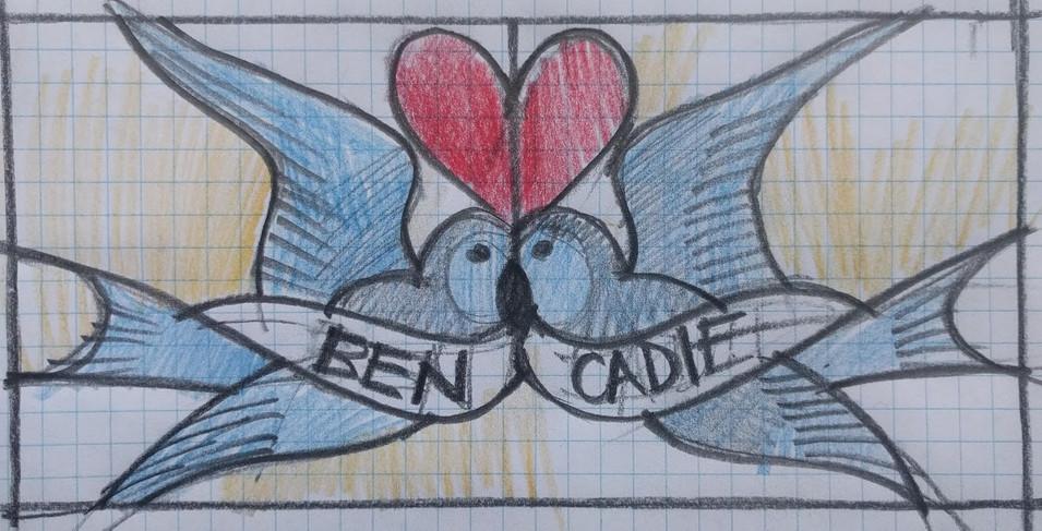 BEN AND CADIE - drawn idea