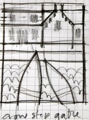 CROWSTEPPED GABLE - drawing