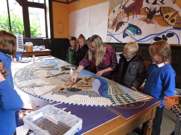 BRECHIN FLOOD PREVENTION MOSAIC - workshop with local children