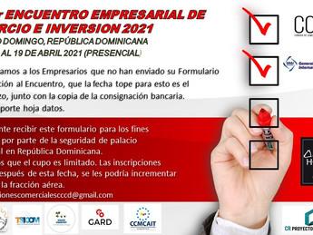 Aviso Final a Empresas Interesadas en participar en el Encuentro de Negocios e inversión Sto.Dgo.
