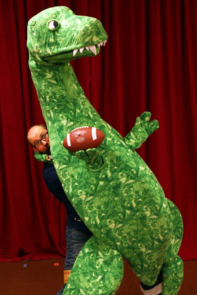 Rex with Football