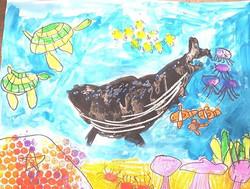 7 year old student art at Kiddo MusicArt Academy