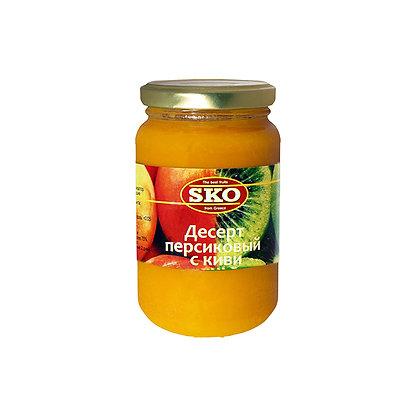 """Десерт персиковый с киви """"SKO"""" 350г (Греция)"""