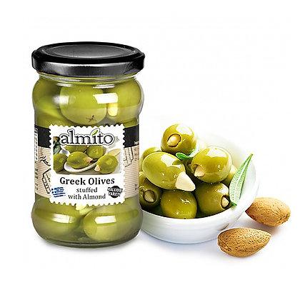 Греческие оливки с миндалем ALMITO 320мл