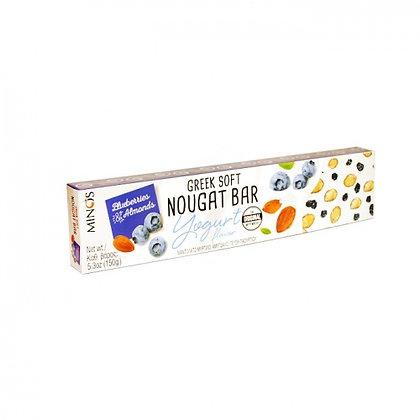 Нуга с йогуртом, черникой, миндалем MINOS 150г
