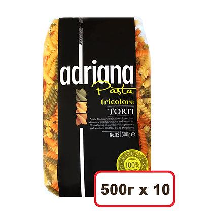 """Макаронные изделия № 32-Т """"exclusive""""  триколор завитушки  500г, """"Adriana"""""""