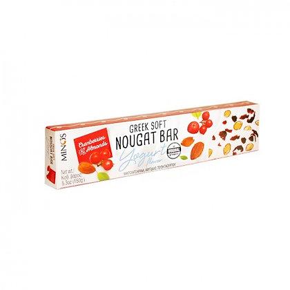 Нуга с йогуртом, клюквой, миндалем MINOS 150г
