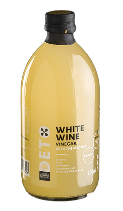 """Белый винный  уксус органик BIO 500 ml """"DETO"""""""