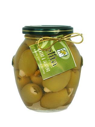 Зеленые оливки фаршированные миндалем & халапеньо  395мл