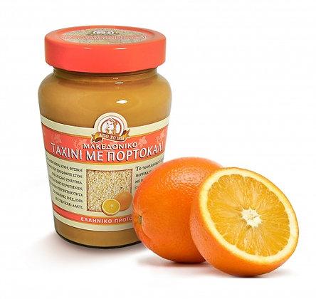 """Кунжутная паста тахини с апельсином """"MACEDONIAN TAHINI"""" ст/б 350гр. 15шт."""
