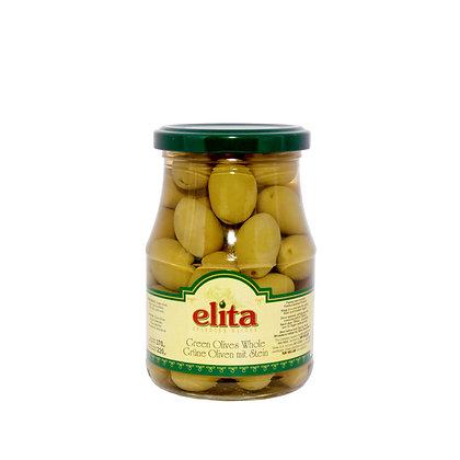 """Греческие оливки с косточкой Colossal 121-140  """"ELITA"""" 370 мл"""